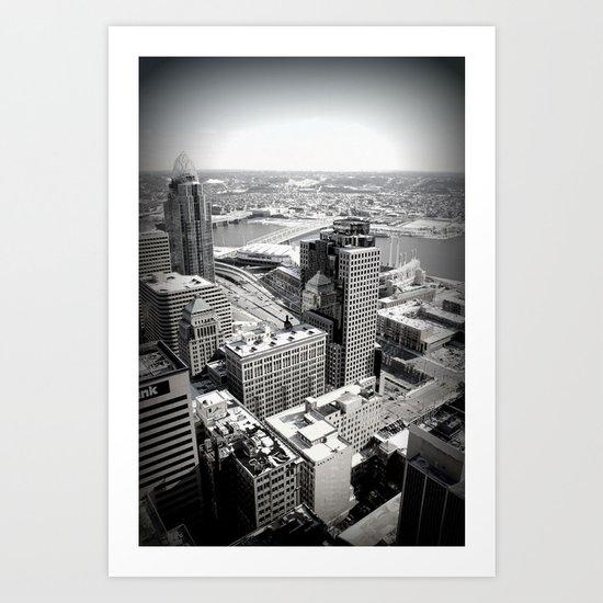 Cincinnati - Downtown #3 Art Print