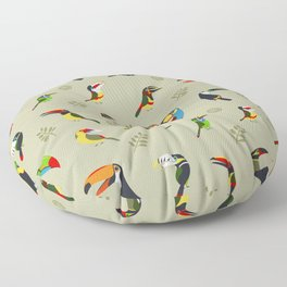 Toucans by Lili Chin Floor Pillow