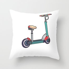 This Is How I Roll Cute & Funny Scooter Lover Pun Throw Pillow
