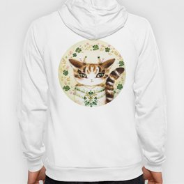 Poe: Heart of my Heart, St. Paddy's Day Cat, lucky charm Hoody