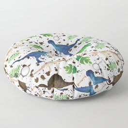 Watercolor Dinosaurs Floor Pillow