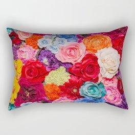 Colorful Rainbow Flowers Rectangular Pillow