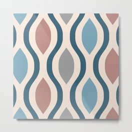 Pretty Ogee Pattern 350 Metal Print