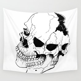Skull #6 (Fragmented and Conjoined) Wall Tapestry