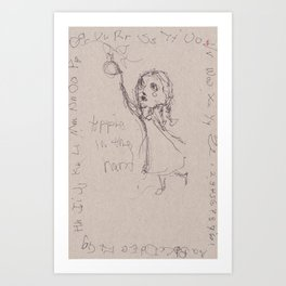 Apple in the Hand Art Print