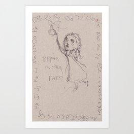 Apple in the Hand Art Print