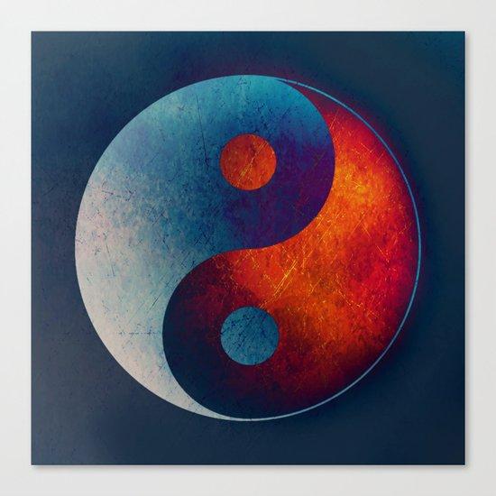 Yin Yang Symbol Canvas Print