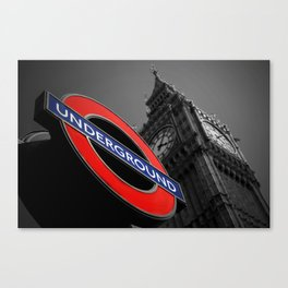 Underground At Westminster London Canvas Print