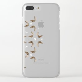 owls & moons Clear iPhone Case