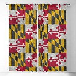 Maryland State flag - Vintage retro style Blackout Curtain