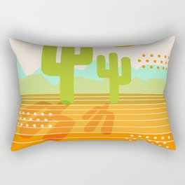 Blazin' - retro vibes southwest socal desert minimal 70s colors throwback 1970's art Rectangular Pillow