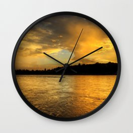 when the light turns to gold... Wall Clock