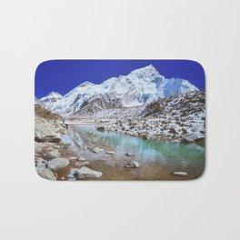 Mount Nuptse view and Mountain landscape view in Sagarmatha National Park, Nepal Himalaya. Bath Mat