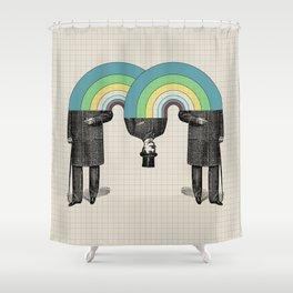 Occasionally Headless Shower Curtain