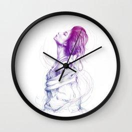 Beautiful Woman Lady Portrait Fashion Art Wall Clock