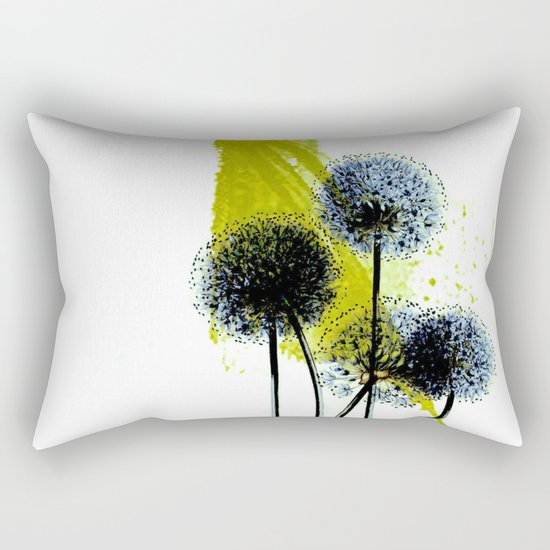 blue dandelion on abstract background Rectangular Pillow