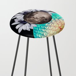 Beyond the moon and back Counter Stool