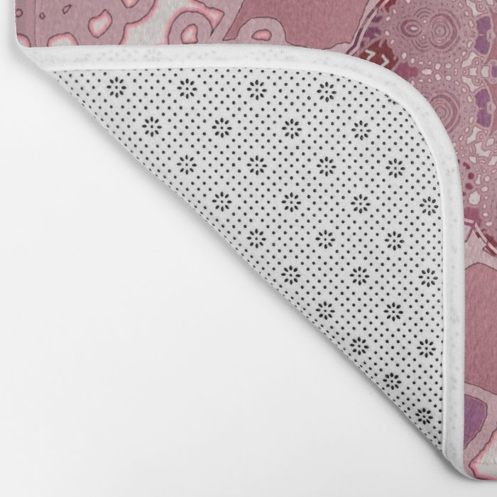 AZIZA RED  Bath Mat