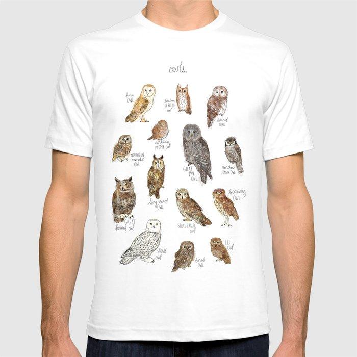Owls T-shirt by amyhamilton | Society6