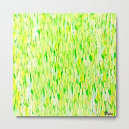 Raining  Lime and Lemon Drops Metal Print