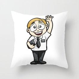 HAPPY MORMON MISSIONARY Elder Priest Bible Christ Throw Pillow
