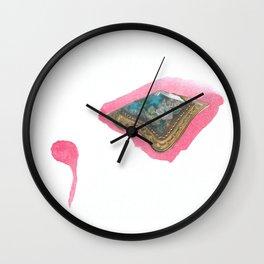 Pink Pompadour Wall Clock