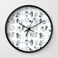 Pop Culture Clash Wall Clock