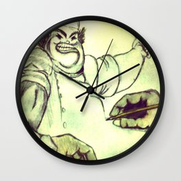 Mad Chef Wall Clock