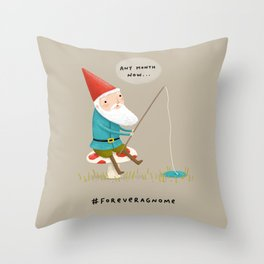 Forever a Gnome 3 Throw Pillow