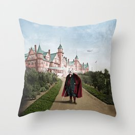 Sir Samuel Samoyed at the Resort Throw Pillow