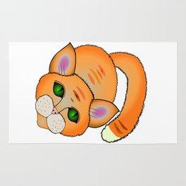 Sad cat Rug