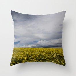 Sky and yellow Throw Pillow