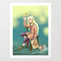 luna lovegood Art Prints featuring Resting time by Morgane Velten