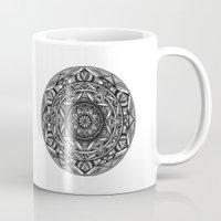 spiritual Mugs featuring Spiritual Mandala by msimona