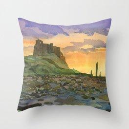 Bamburgh Castle - Northumberland, England Throw Pillow