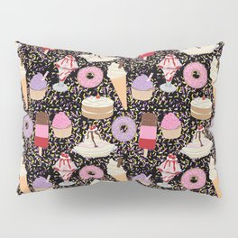 Sweet treats pattern with ice cream and doughnuts, donuts Pillow Sham