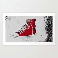 chuck Art Prints featuring Chuck  by Project P