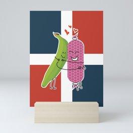 Platano Con Salami Mini Art Print
