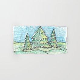 Evergreen trees Hand & Bath Towel