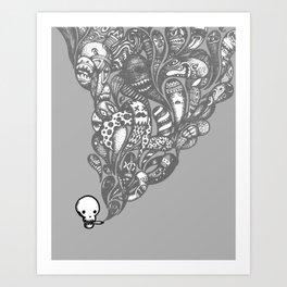 GHOST SMOKE Art Print