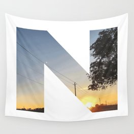 """""""N"""" Initial Sunset Wall Tapestry"""
