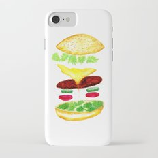 Watercolor hamburger details Slim Case iPhone 7
