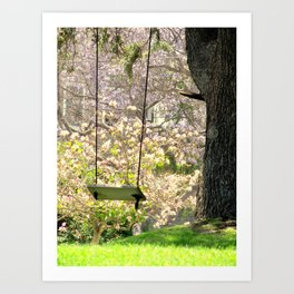 Close your eyes and your there Art Print