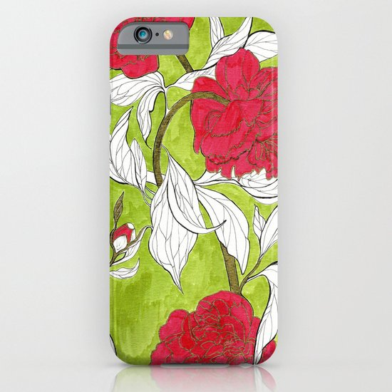 red peonies iPhone & iPod Case