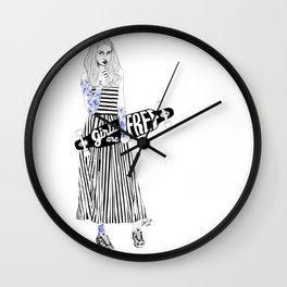 Girls are free Wall Clock