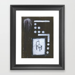 chair painting Framed Art Print