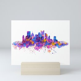 Pittsburgh Skyline Mini Art Print