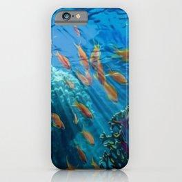 Orinoco Flow - Far Beneath the Coral Sea, Ocean Portrait by Jeanpaul Ferro iPhone Case