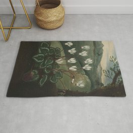 The Persian Cyclamen The Temple of Flora Rug