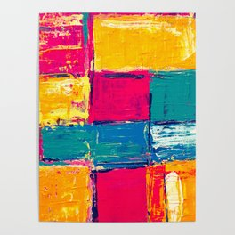 Colorful Geometric Vivid Abstract Background Poster